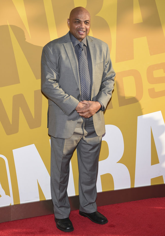 Photo - Charles Barkley arrives at the NBA Awards at Basketball City at Pier 36 on Monday, June 26, 2017, in New York. (Photo by Evan Agostini/Invision/AP)