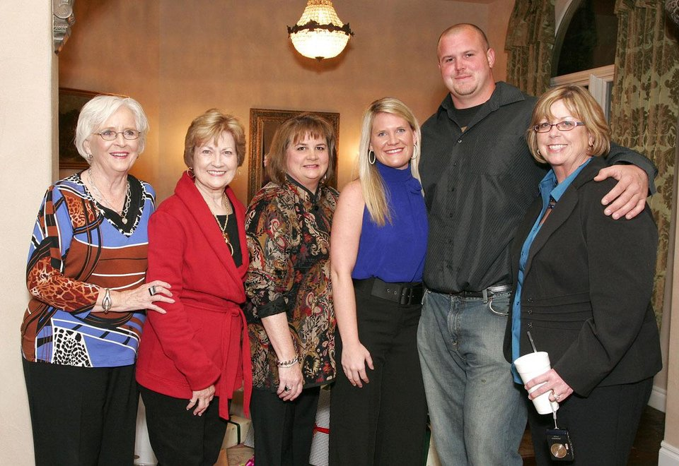 Joan Allen, Kathleen Marks, Theresa Allen, Chelsea Allen, Wes Sims, Linn Yount. - Photo by David Faytinger, For The Oklahoman