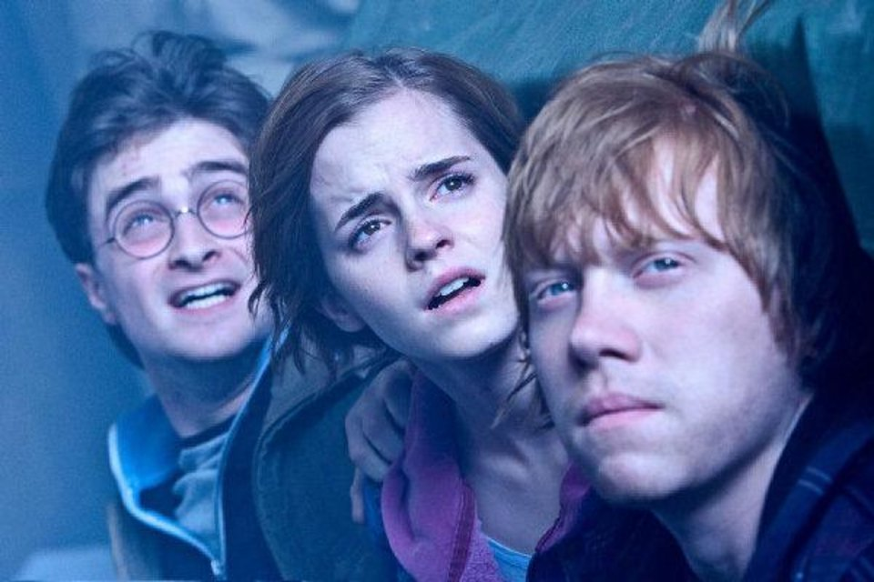 "From left, Daniel Radcliffe plays Harry Potter, Emma Watson as Hermione Granger and Rupert Grint as Ron Weasley in ""Harry Potter and the Deathly Hallows: Part 2."" Warner Bros. Pictures photo <strong>Jaap Buitendijk</strong>"