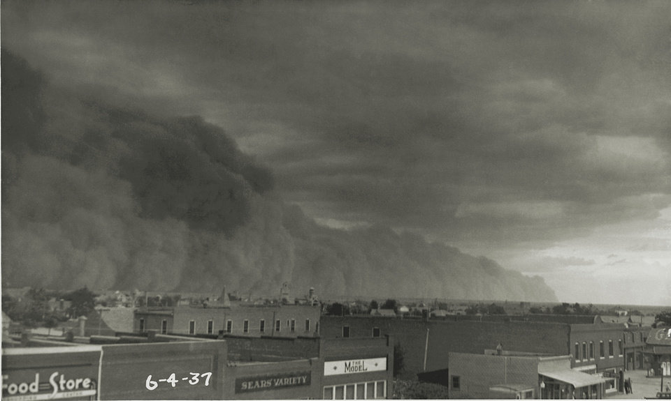 Oklahoma dust bowl on 6/4/1937.