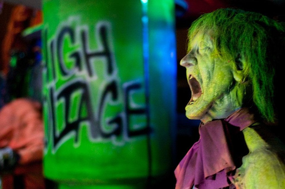 Photo - Frontier City is celebrating the Halloween season with its annual FrightFest, and this year, the festival's centerpiece, the Nightmare Haunted House, has become The Nightmare Institute. Photo provided