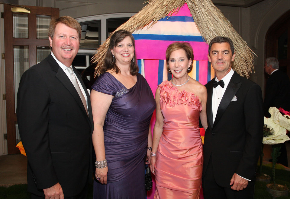 Photo -  Guy and Caroline Patton and Tina and Elby Beal were among the guests t the ball.