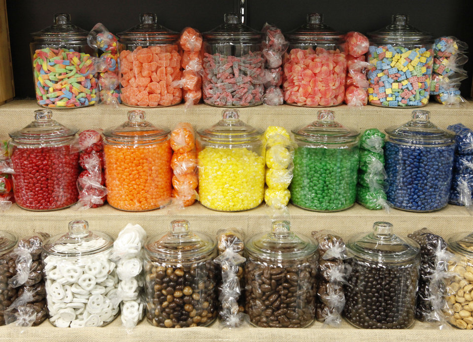 Photo - Gourmet candies are available at the new Uptown Grocery Co. in Edmond.  David McDaniel - The Oklahoman