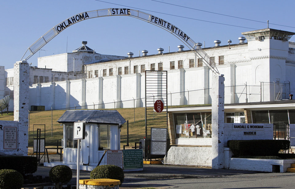 Photo - The entrance to the Oklahoma State Penitentiary in McAlester, Okla., Wednesday, Dec. 7, 2011. Photo by Nate Billings, The Oklahoman