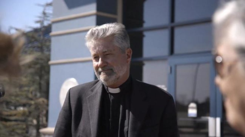Photo -  The Rev. Robin Meyers, longtime senior pastor of Mayflower Congregational Church-United Church of Christ, is shown in this still photo from the film
