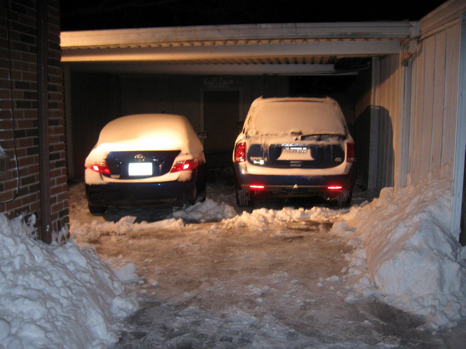 Keeping up with the shoveling. Submitted by Mitchell Ruzzoli.