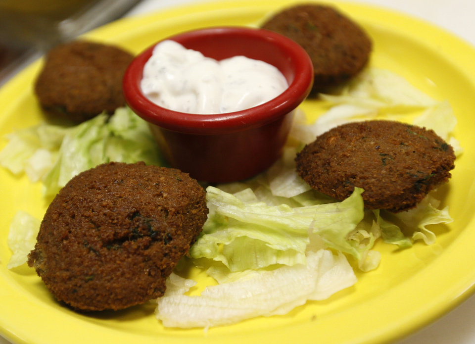 Photo - Falafels at Simply Falafel, 343 S. Blackwelder, in Edmond. Photo by Nate Billings, The Oklahoman  NATE BILLINGS - NATE BILLINGS