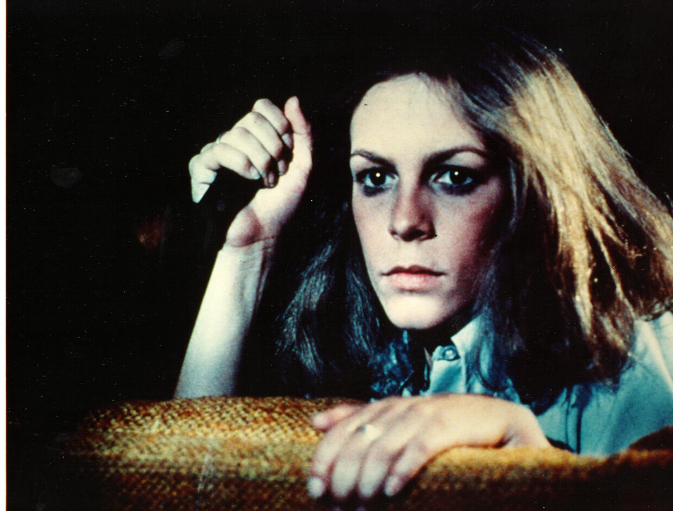 """Photo -  This undated photo, released by AMC, shows actress Jamie Lee Curtis in a scene from the 1978 horror film classic, """"Halloween, directed by John Carpenter. The movie is among those to be aired on AMC during its 10th annual """"Monsterfest,"""" which arrives Oct. 22.  (AP Photo/AMC, Anchor Bay Entertainment) ORG XMIT: NYET395"""