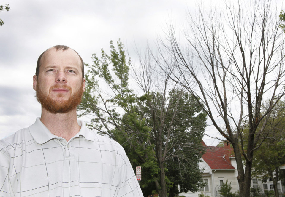 Ryan Ochsner is urban forestry coordinator in Edmond.  Photo By David McDaniel, The Oklahoman Archive