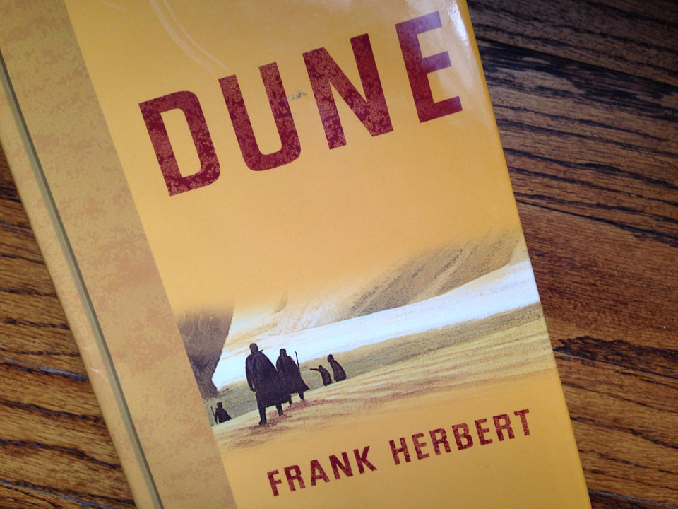 Photo - My copy of 'Dune' was so thrilled to model for this photo that it nearly tripped and broke its spine.