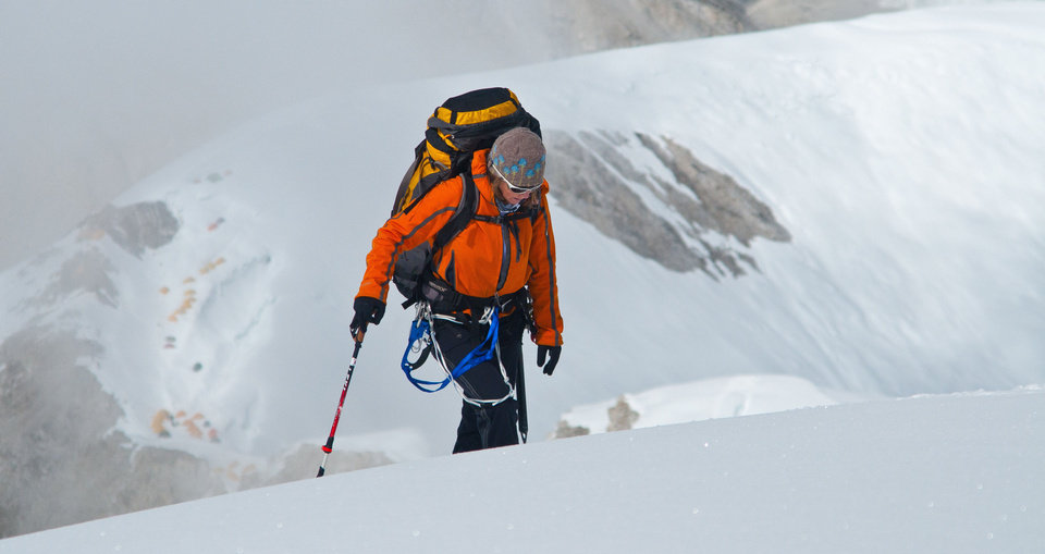 Valari Wedel, of Edmond, is shown on a 2010 climb in the Himalayas. Photo provided. <strong></strong>