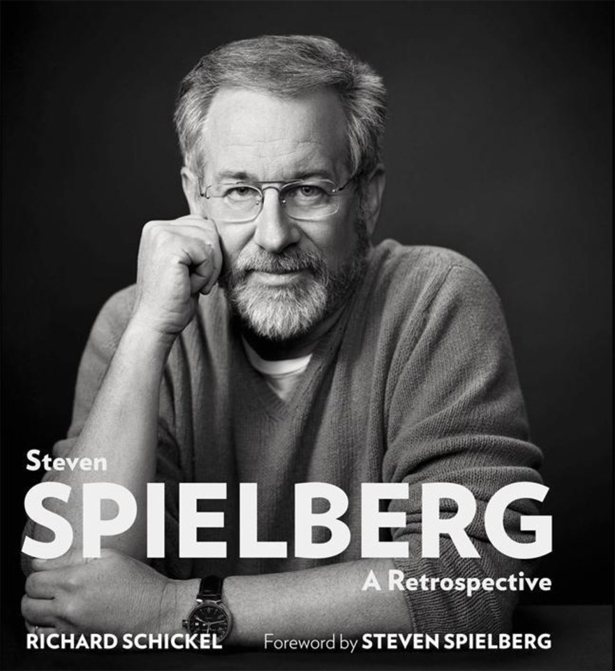 "This book cover image released by Sterling Publishing shows ""Steven Spielberg: A Retrospective,"" by Richard Schickel. The book features film critic Richard Schickel in conversation with Spielberg as he looks back on the last 40 years. Chapters are chronological by movie. (AP Photo/Sterling Publishing)"