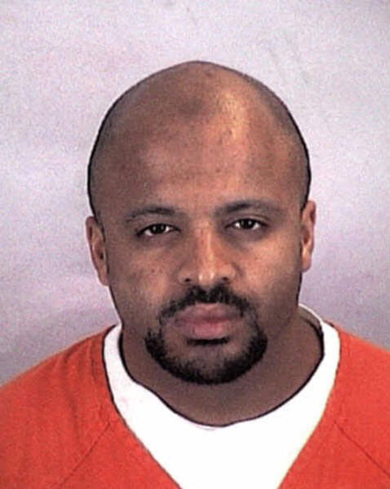 Photo - FILE - In this undated file photo provided by the Sherburne County Sheriff Office, Zacarias Moussaoui is shown. Claiming that he can offer inside information about al-Qaida that could support claims against Saudi Arabia and financial institutions, Moussaoui says he wants to testify in lawsuits filed by victims of terrorism. Some lawyers have taken him seriously enough to interview him at a maximum-security prison in southern Colorado. But others have questioned his motives. (AP Photo/Sherburne County, Minn., Sheriff's Office, File)