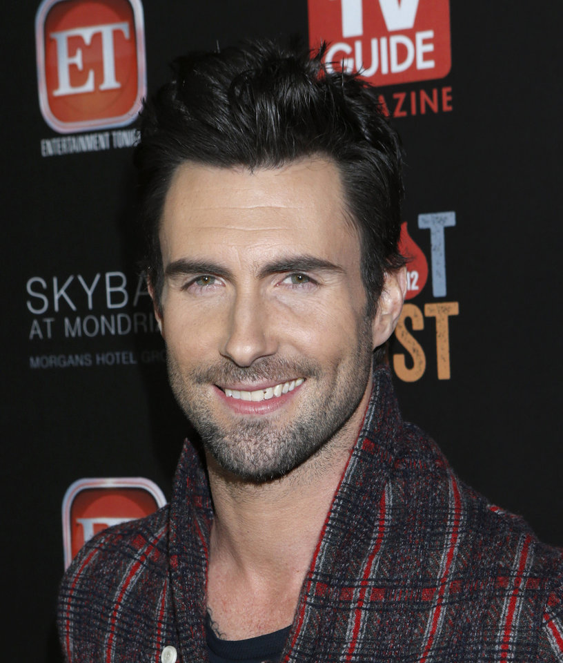 Adam Levine attends TV Guide Magazine\'s 2012 Hot List Party at Skybar at the Mondrian Hotel on Monday, Nov. 12, 2012 in West Hollywood, Calif. (Photo by Todd Williamson/Invision/AP Images)