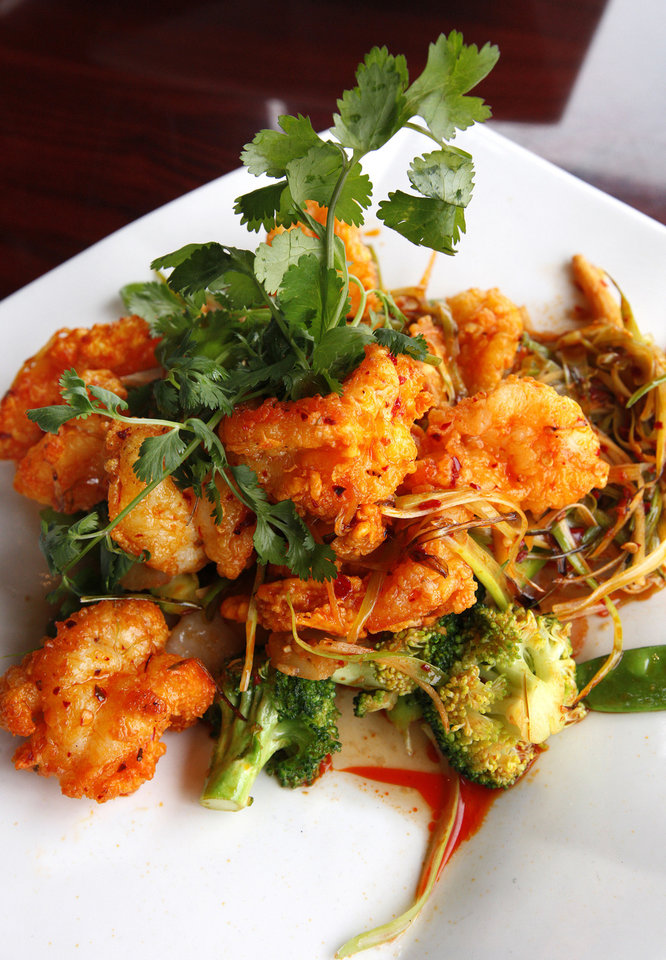 Szechuan Jumbo Shrimp at the Szechuan Bistro, 1010 W Memorial Road, in Oklahoma City. PAUL B. SOUTHERLAND - THE OKLAHOMAN