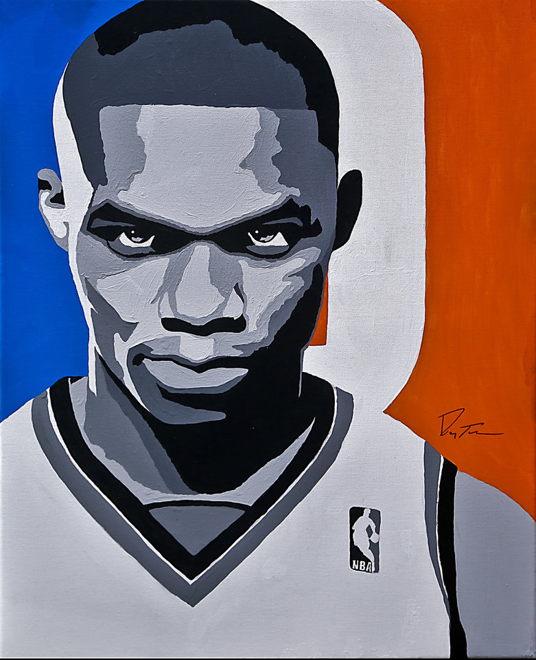 The Thunder's Russell Westbrook, a former UCLA standout, says he doesn't listen to doubters but has always played with an aggressive style. ART BY RAY TENNYSON/PHOTO BY CHRIS LANDSBERGER