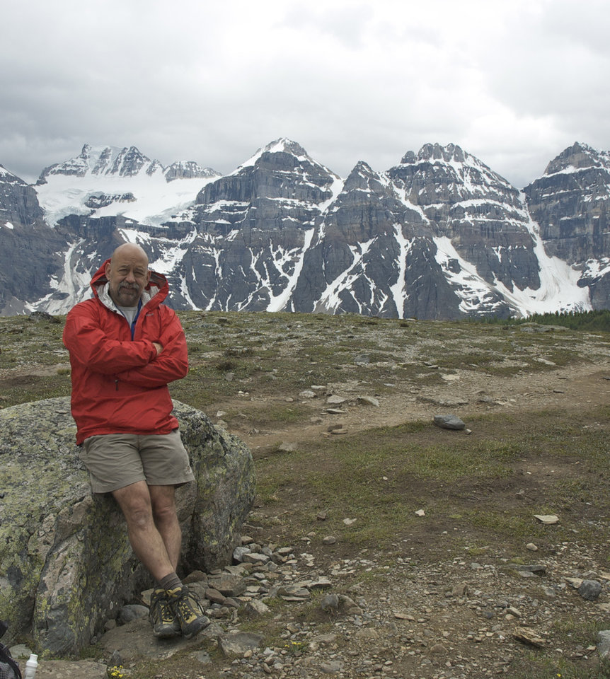 Stephen Hance of Oklahoma City above the Valley of Ten Peaks, Alberta, Canada. Photo provided