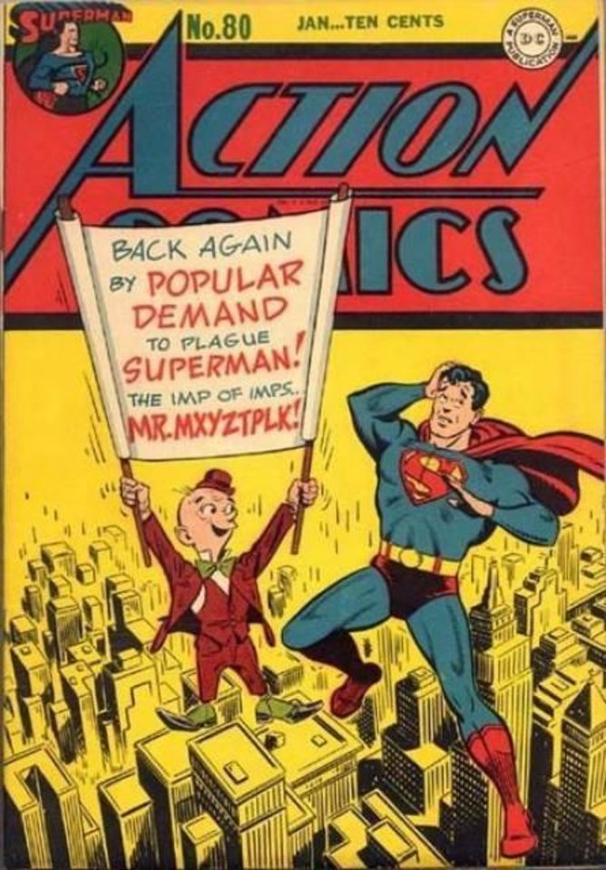 Photo -  Mr. Mxyzptlk makes an appearance on the cover of