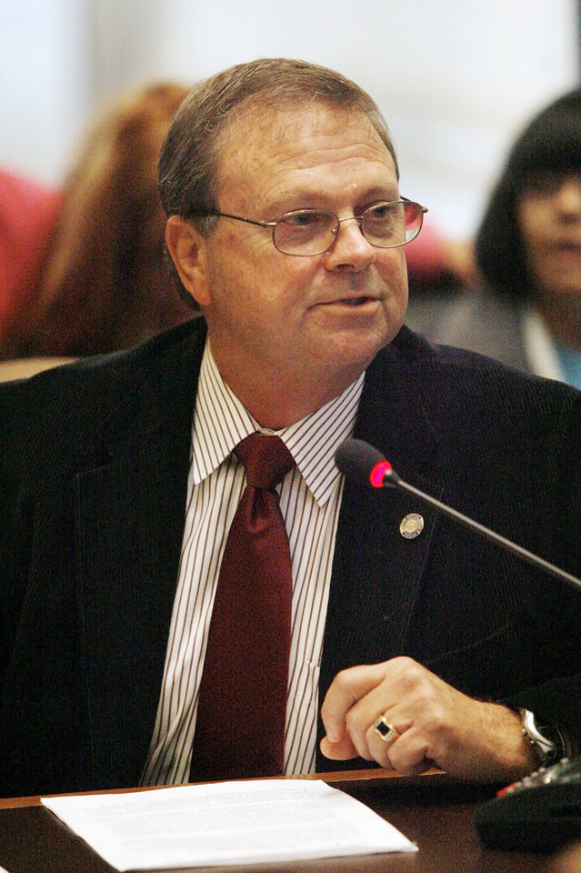 Rep. Brian Renegar, D-McAlester, speaks at the state Capitol in Oklahoma City. Photo by Paul B. Southerland, The Oklahoman