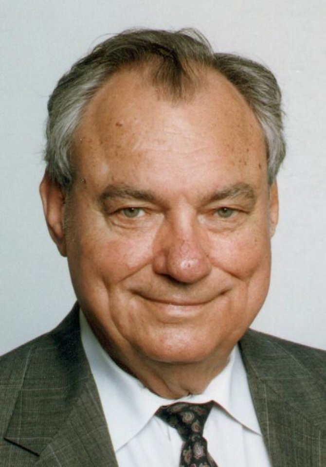 Photo - ** FILE ** Oklahoma state Sen. Gene Stipe, D-McAlester is shown in a Dec. 24, 1998 file photo. Charlene Spears, a longtime aide to Stipe, was charged Thursday, March 6, 2003, with two federal election violations linked to the 1998 congressional campaign of Walt Roberts, a Justice Department spokesman said. (AP Photo/Daily Oklahoman)