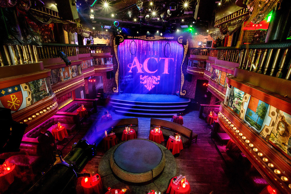 Photo - This image provided by The Act nightclub shows the interior of the club located at the Palazzo hotel-casino on the Las Vegas Strip. The Palazzo  is hoping to terminate their 10-year agreement with the nightclub after 10 months of operation. They say the shows at the venue inside the Palazzo are so raunchy they violate obscenity laws. (AP Photo/The Act Nightclub, Shane O'Neal)