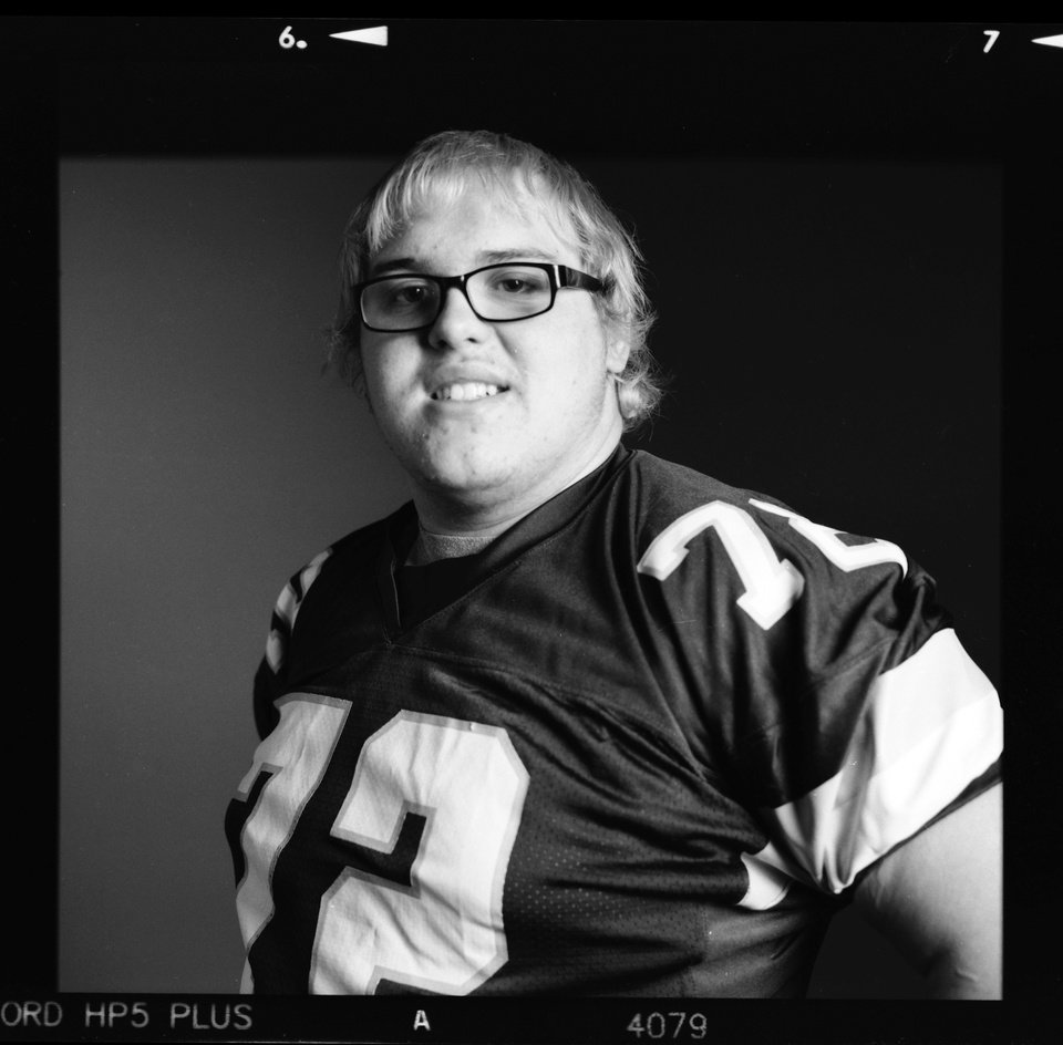 Photo - All-State high school football player Grant Lee of Clinton poses for a photo in Oklahoma City, Monday, Dec. 17, 2012. Photo by Nate Billings, The Oklahoman