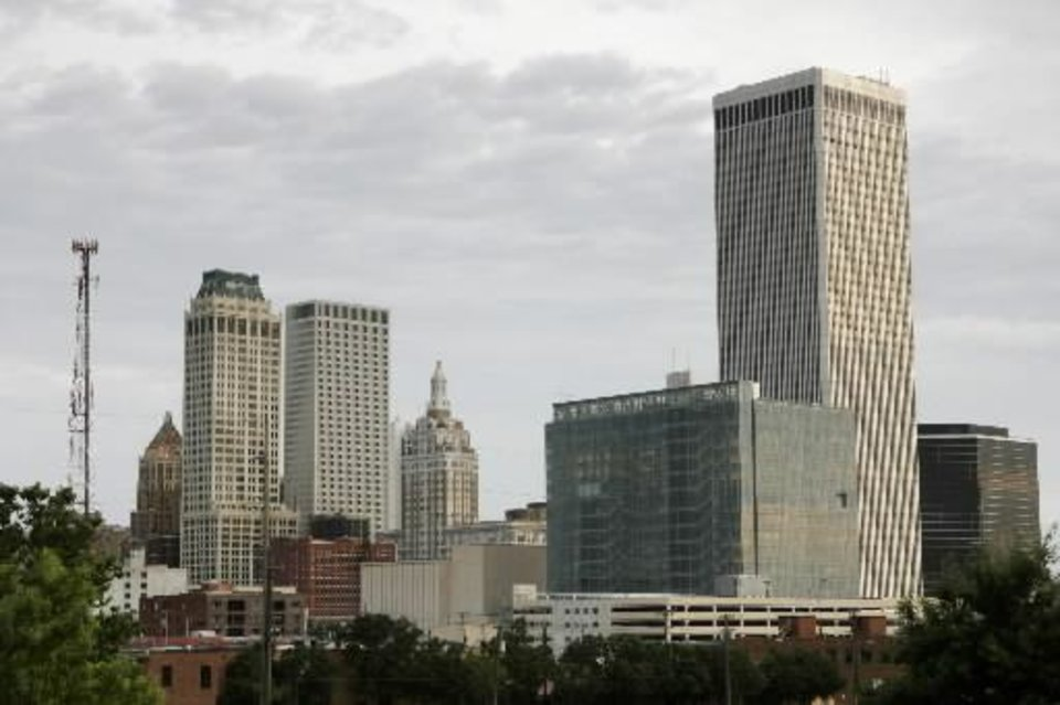Photo - Downtown Tulsa, which requested the largest amount of aid from the economic stimulus plan. Oklahoman file art.