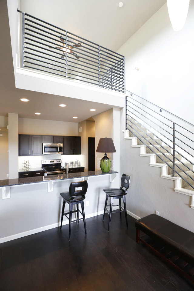 Photo - Jay Johnston says Johnston Builders' aim with the townhomes in the Hawthorn addition was to offer space comparable to what has become popular in downtown Oklahoma City over the past decade.  Steve Gooch - The Oklahoman