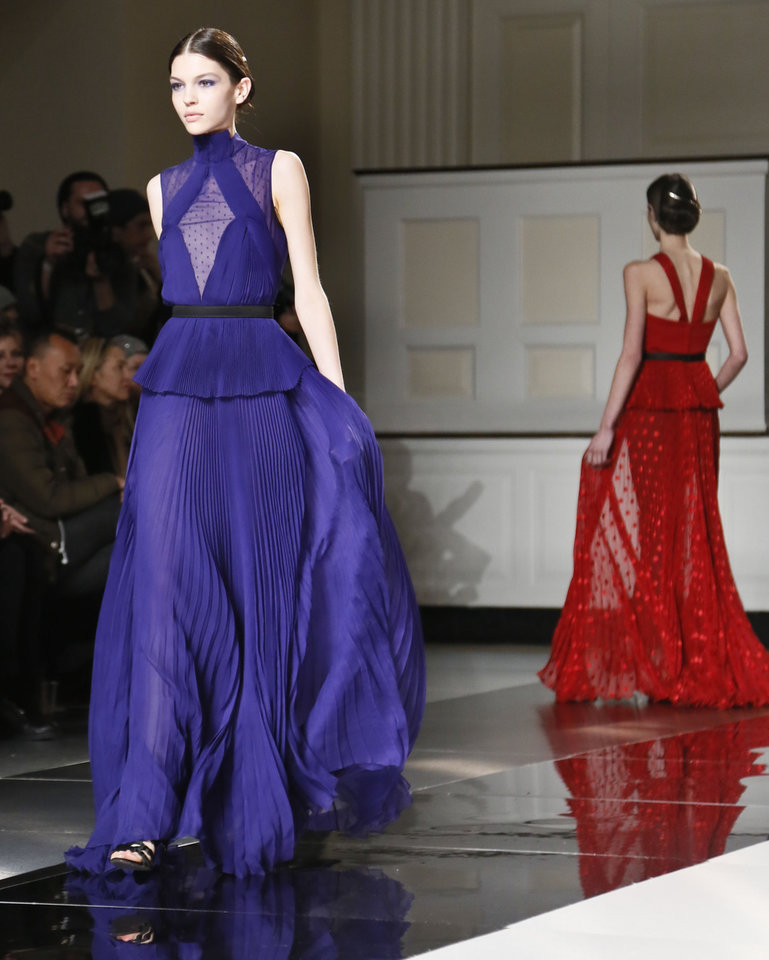 Photo - Fashion from the Fall 2013 collection of Jason Wu is modeled on Friday, Feb. 8, 2013 in New York.  (AP Photo/Bebeto Matthews)