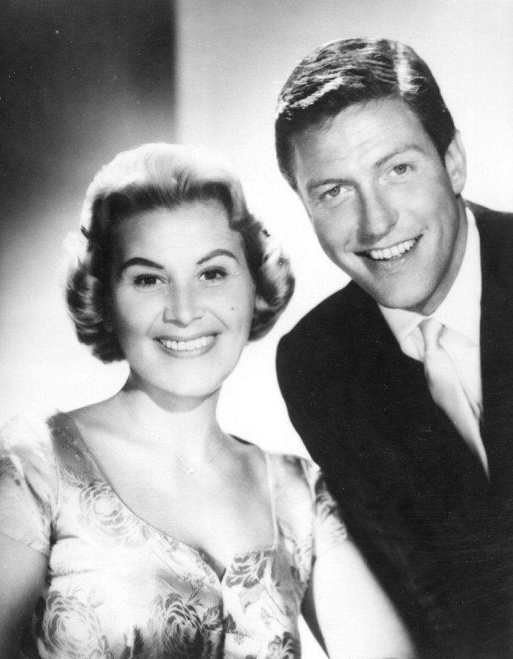 Rose Marie and Dick Van Dyke in a 1961 photo from �The Dick Van Dyke Show.� Photo provided
