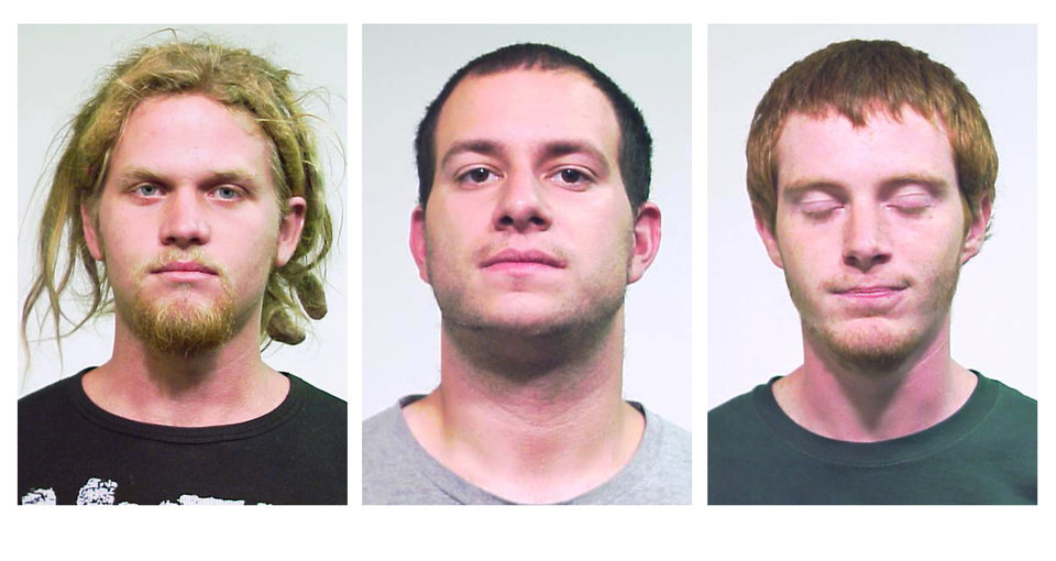 Photo -   This combo made from undated photos released Saturday, May 19, 2012 by the Chicago Police Department shows from left, Brent Vincent Betterly, 24, of Oakland Park, Fla., Jared Chase, 24, of Keene, N.H., and Brian Church, 20, of Ft. Lauderdale, Fla. The three men arrested Wednesday, May 16, 2012, in Chicago, accused of making Molotov cocktails with plans to attack President Barack Obama's campaign headquarters, Mayor Rahm Emanuel's home and other targets during this weekend's NATO summit, according to prosecutors at a court hearing Saturday. The three were arrested in a nighttime raid of an apartment in the city's South Side Bridgeport neighborhood ahead of the two-day meeting. (AP Photo/Chicago Police Department)