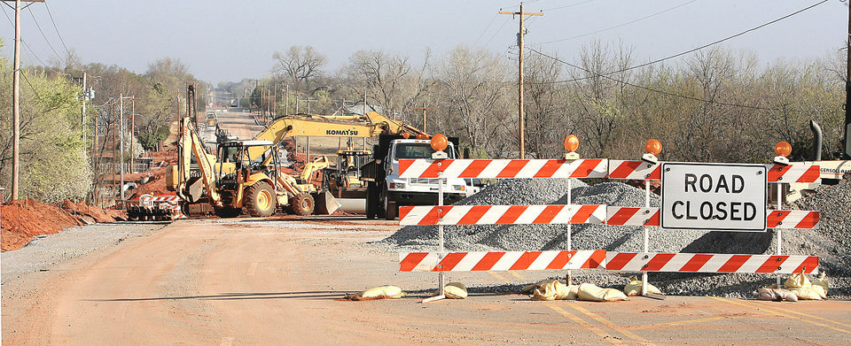 Photo - Coltrane Road is closed to through traffic between Second and 15th streets.