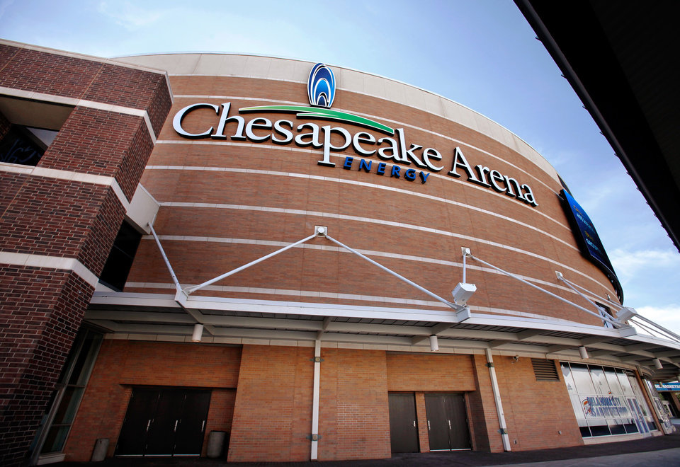 Photo - Upgrades to the Chesapeake Energy Arena in downtown Oklahoma City.  Photographed Tuesday, Oct. 11, 2011.  Photo by Jim Beckel, The Oklahoman