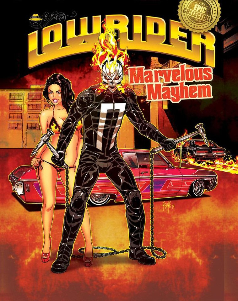 Photo - The new Ghost Rider on the cover of Lowrider Magazine.  Photo provided.