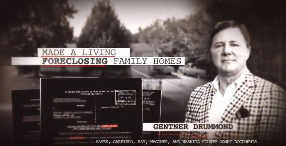 Photo -  This is a screen grab from a television ad critical of attorney general candidate Gentner Drummond.