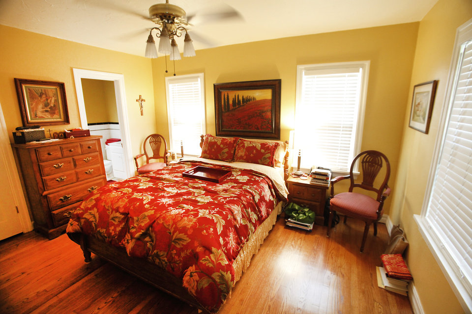 The Lewis family's master bedroom on NW 28th, Monday, July 16 , 2012. The Lewis' have spent years peeling off metal siding and working on their home bit by bit to bring it back to its 1930s glory. Photo By David McDaniel/The Oklahoman