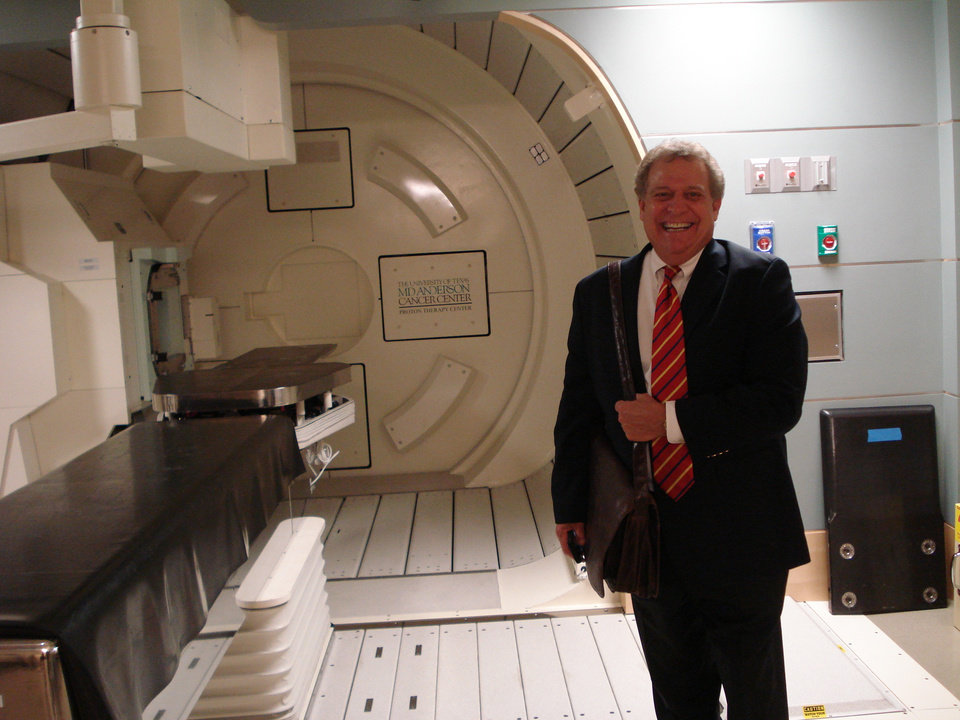 Photo - Hershel Lamirand, executive director of the Oklahoma Health Center Foundation, is shown in a patient treatment room at M.D. Anderson's Proton Therapy Center in Houston.	PHOTO BY JIM STAFFORD, THE OKLAHOMAN ORG XMIT: 0710192341361735