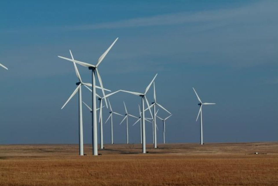 Photo -  This wind farm provides electricity to Empire Electric. [PROVIDED]