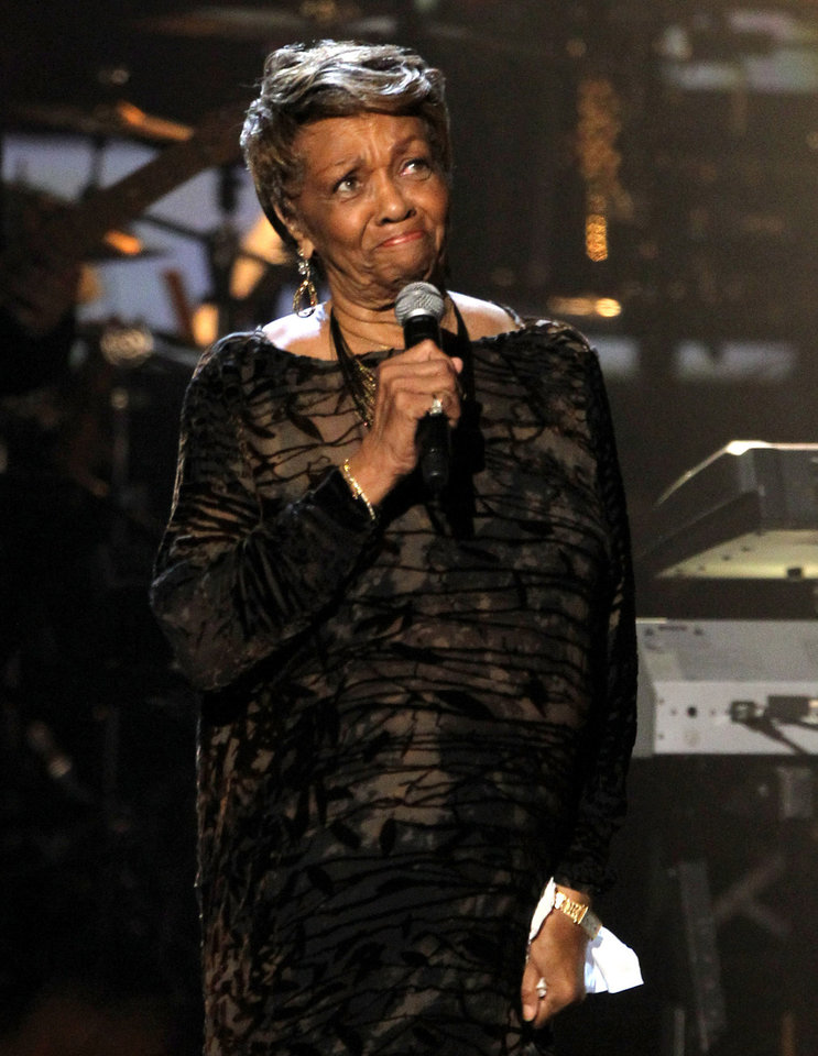 Photo -   Cissy Houston pauses as she performs during the in memoriam to her daughter Whitney Houston at the BET Awards on Sunday, July 1, 2012, in Los Angeles. (Photo by Matt Sayles/Invision/AP)