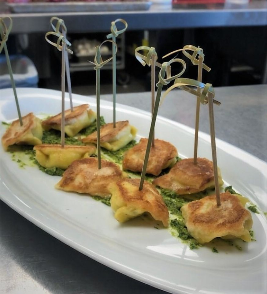 Photo - Toasted Cheese Ravioli was served at the farewell wine dinner for Enis Mullaliu last week at Vast.