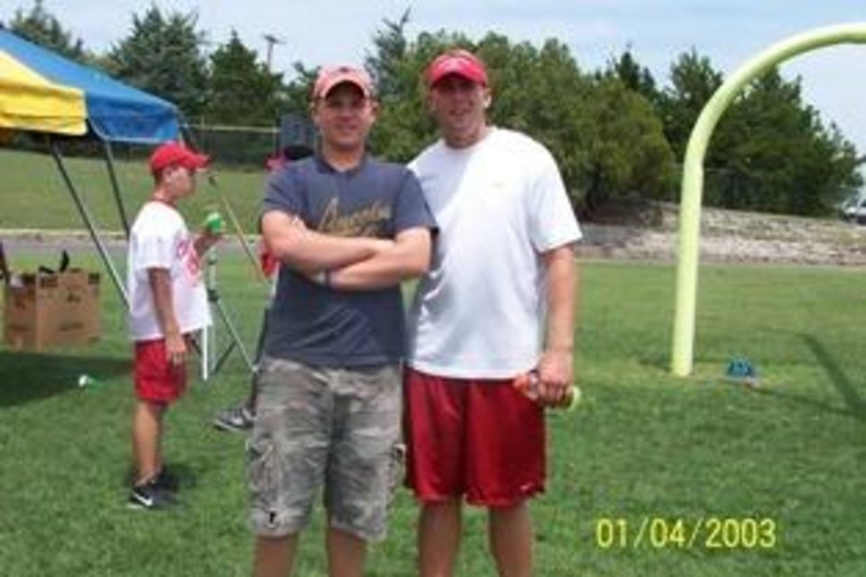 This is My oldsest son Seth and Jason White at a Chickasaw Nation Football camp in Ada, Oklahoma July 1, 2003<br/><b>Community Photo By:</b> Michelle Brister<br/><b>Submitted By:</b> Michelle, Pauls Valley