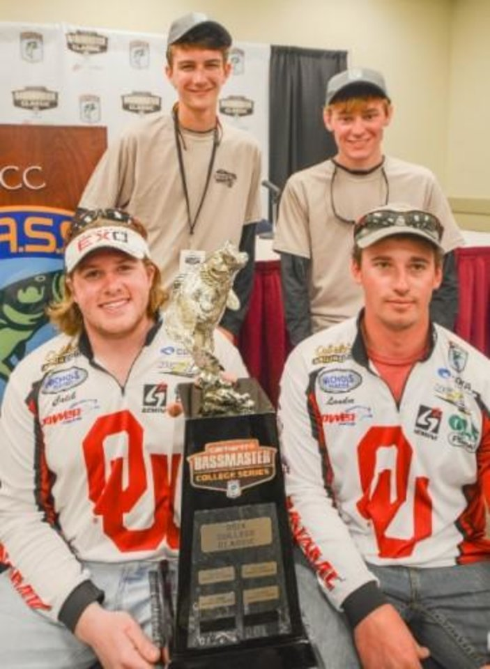 University of Oklahoma bass anglers Caleb Masters and Landon Dixon won the Bassmaster College Classic.     <strong> Photo by B.A.S.S. </strong>