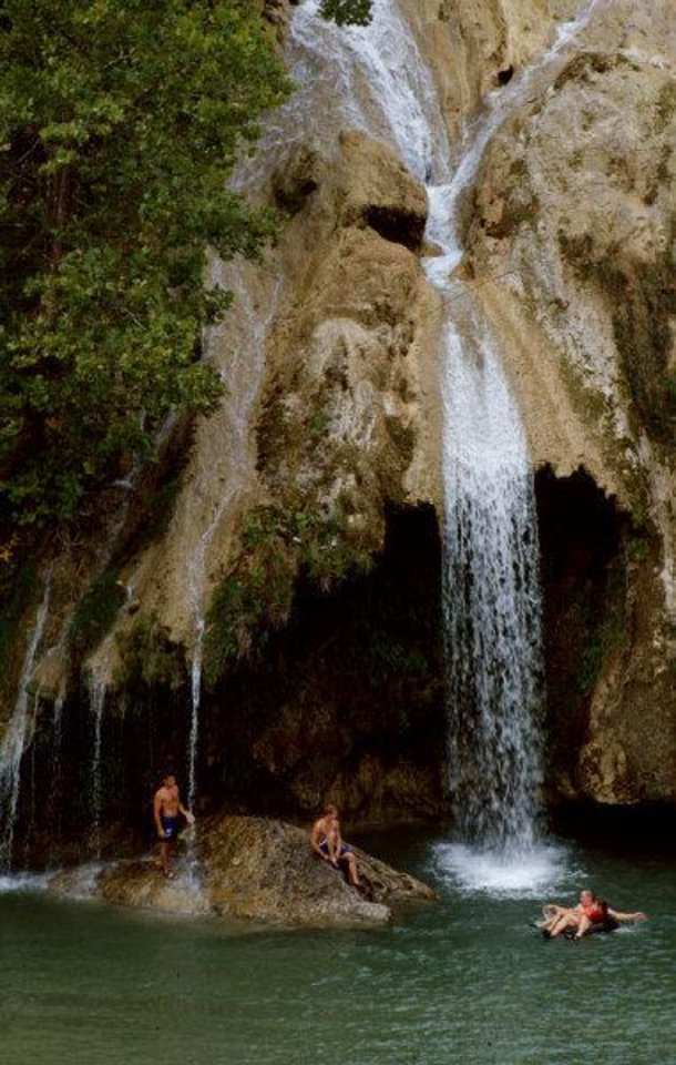 Photo - Turner Falls near Davis is on one of many streams that provide Oklahomans with recreational opportunities.  Provided - Photo provided