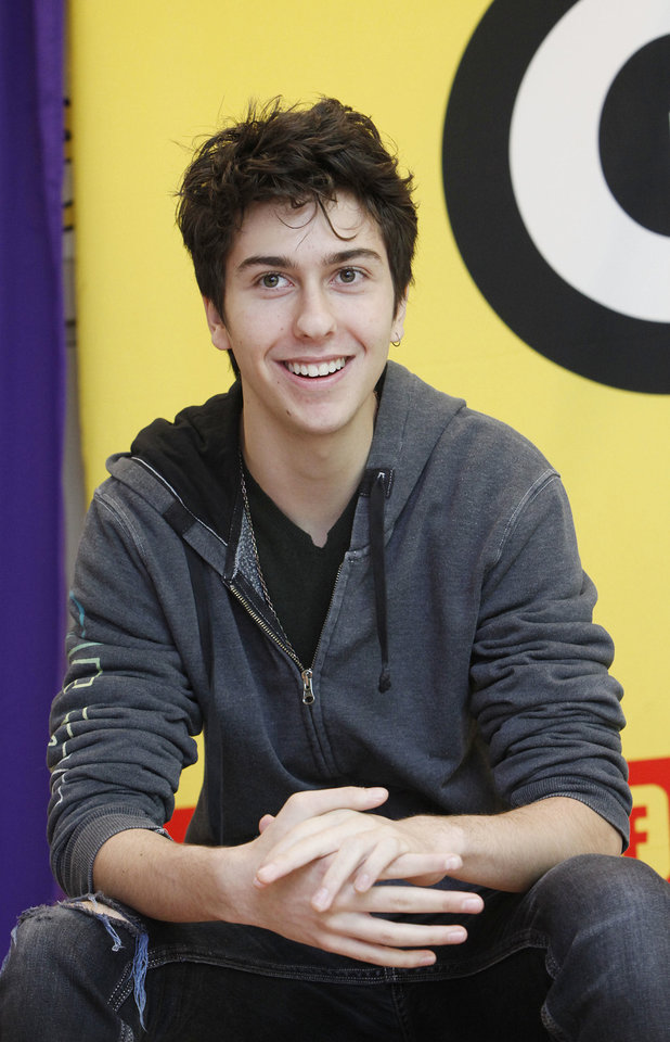 "Actor Nat Wolff speaks at the Q&A after the Get Schooled special screening of  ""Admission"" at the Bronx Validus Preparatory School on March, 6 in New York City, New York.  (Photo by Amy Sussman/Invision for Get Schooled/AP Images <strong>Amy Sussman - Invision for Get Schooled</strong>"