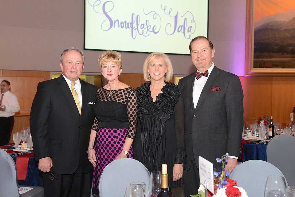 Photo - David and Jane Thompson, Donna and Bruce Lawrence. Photo by David Faytinger, for The Oklahoman