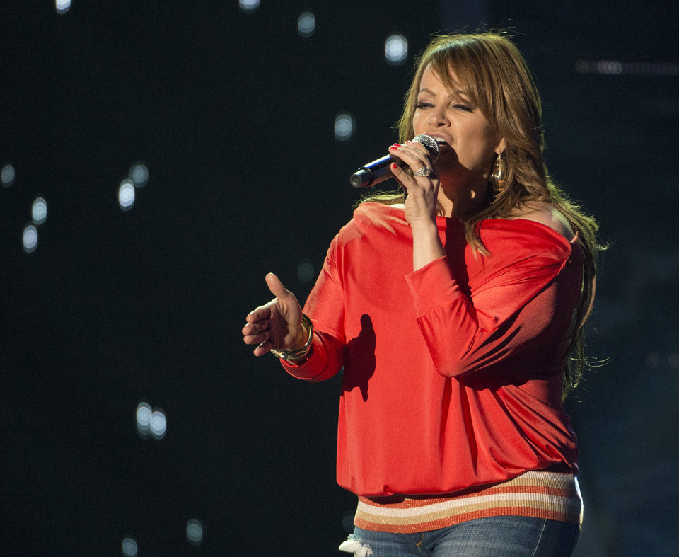 Photo - This April 25, 2012 photo released by Telemundo shows Latin singer Jenni Rivera rehearsing for the 2012 Billboard Latin Music Awards,  at the BankUnited Center in Coral Gables, Fla.  The wreckage of a small plane believed to be carrying Mexican-American music superstar Jenni Rivera was found in northern Mexico on Sunday and there are no apparent survivors, authorities said. (AP Photo/Telemundo, Gary I Rothstein/Telemundo)