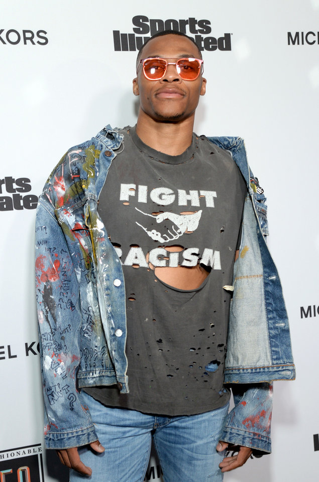 Photo - Russell Westbrook sported a