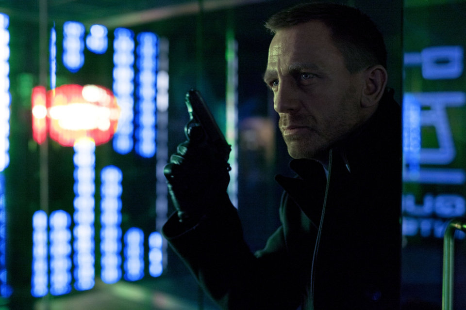 Photo - This film image released by Columbia Pictures shows Daniel Craig as James Bond in the action adventure film