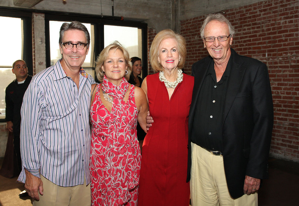 Photo -  Tim and Marylee Strange and Janie and Bill Comstock celebrate Oklahoma City Beautiful's 40th Anniversary.