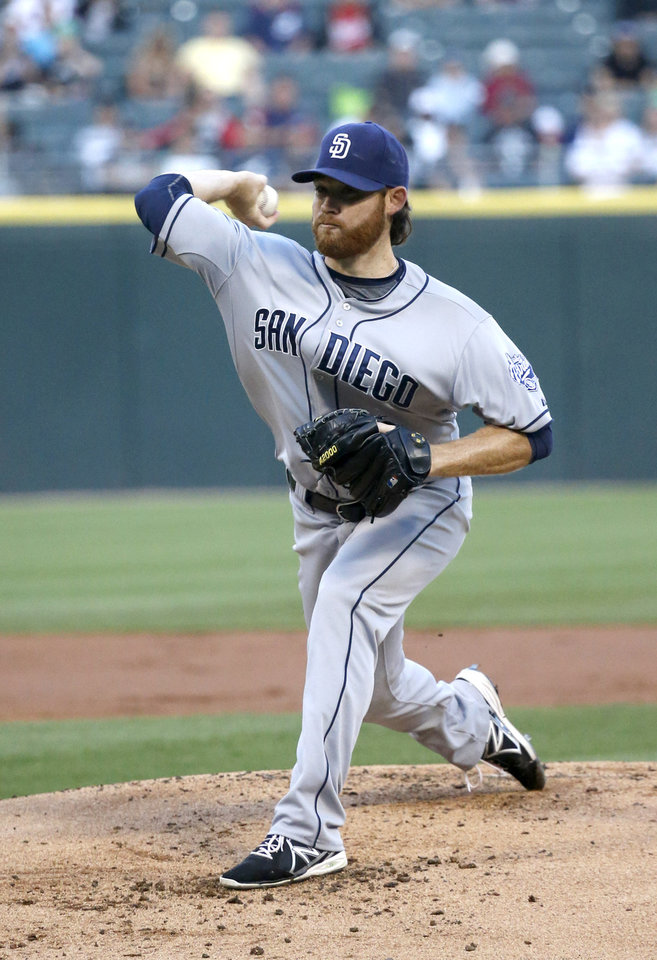 Photo - San Diego Padres starting pitcher Ian Kennedy delivers during the first inning of an interleague baseball game against the Chicago White Sox on Friday, May 30, 2014, in Chicago. (AP Photo/Charles Rex Arbogast)